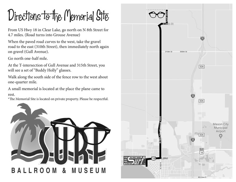 Directions to the Memorial Site